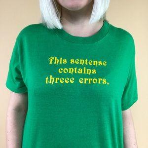 Vintage 1980s spelling error cheesy unisex T-shirt